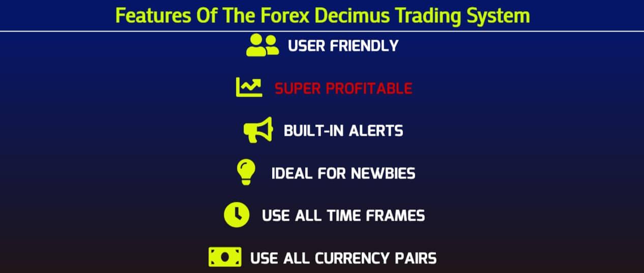 Forex Decimus MT4 indicator features